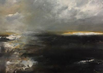 Boundary Skies 61x46cm acrylic on canvas SOLD
