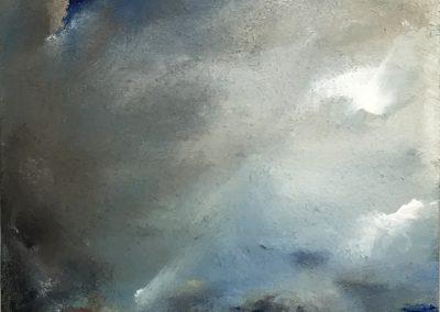 Cape mist acrylic on board 25x25 cm framed