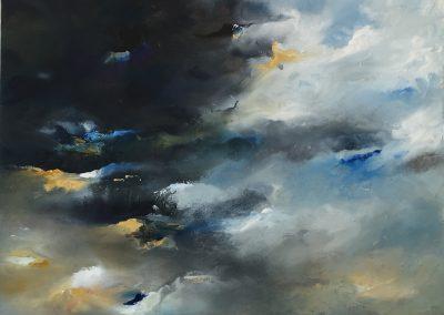Dark skies falling acrylic on canvas 61x46cm