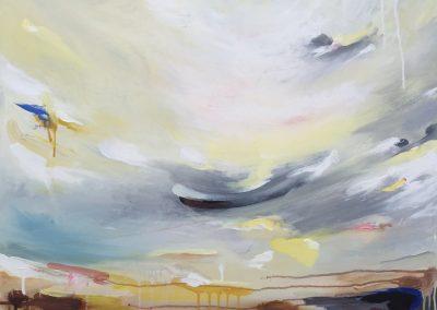 Dee Estuary1 100x100cm acrylic on canvas SOLD