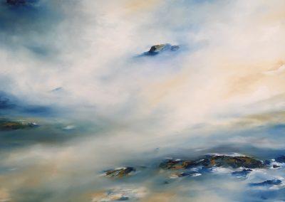 Estuary Island2 oil on canvas 100x70cm