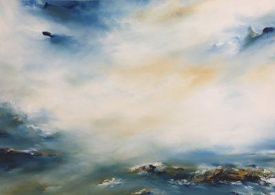 Estuary Island3 oil on canvas 100x70cm SOLD