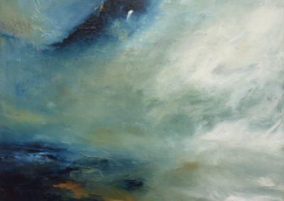 Estuary Island5 acrylic on canvas 30x23x4cm
