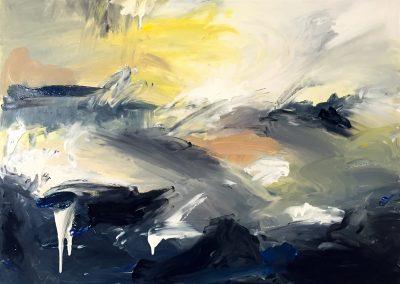 Falling skies acrylic on canvas 84x61cm