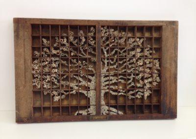 Oak Tree Tray printers letter tray & book 84x44x4cm