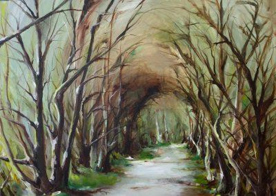 Wirral Way 100x100cm acrylic on canvas