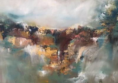 Escarpment oil and cold wax on canvas 76x50cm SOLD