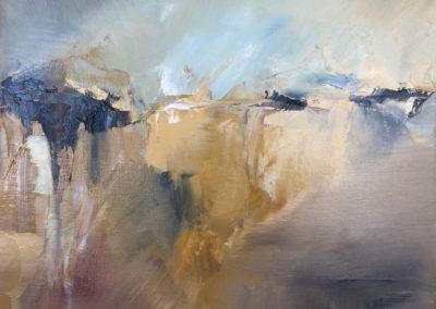 Escarpment4 oil and cold wax on canvas 25x20cm