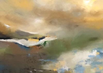 Estuary Reflective Landscape Tiptych part3
