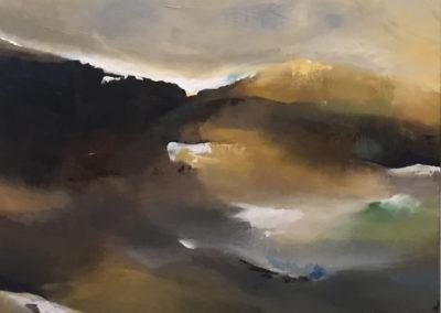 Estuary Reflective Landscape Triptych part2