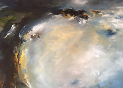 Marina Sky1 71x91cm Oil and cold wax on canvas Unframed