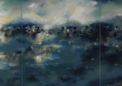 Reflective Landscape L1 Triptych 100x240cm SOLD